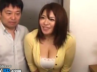 Japanese Busty Gf Fucks In Parents Home