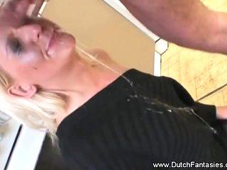 Dutch Blonde Blowjob Abuse