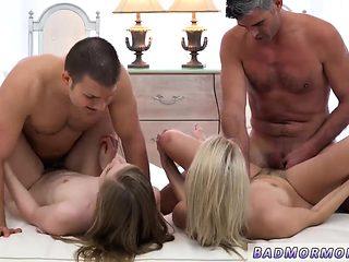 Teen bondage anal gangbang and college takes two dicks