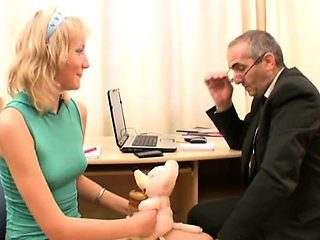 Blameless darling is seduced by an old and lustful teacher