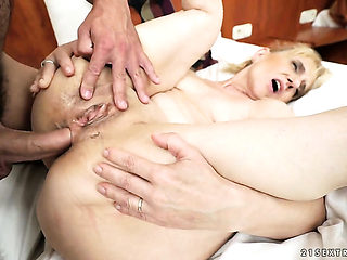 Blonde is horny as hell and fucks with wild passion