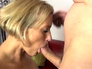 Shaved pussy makes him cum fast