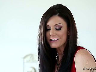 It was a normal day in the office of a big company. The secretary India Summer started doing deep...
