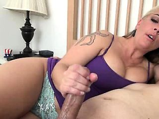 Busty MILF has two amazing natural softy and tender boobs