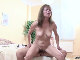 Step-Mom Help Step Son to Get His First Fuck