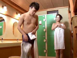 Brother And Sister In Japanese Onsen Spa 4