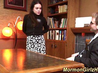 Garmented mormon fucking
