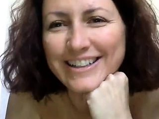 Beautiful brunette model masturbation on webcam