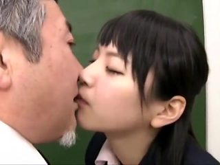 junior Student Tongue Kissing Shy Old Teacher