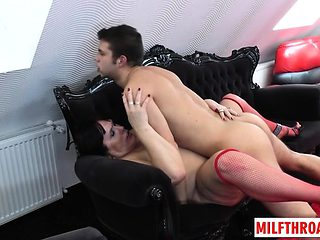 Brunette milf anal and cum on face