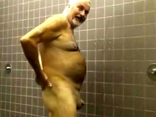 Sexy daddy takes a shower