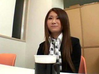 Incredible Japanese chick in Crazy Secretary, Stockings JAV scene