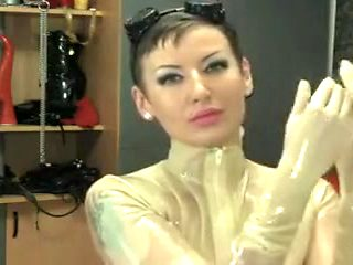 Incredible homemade Latex, Brunette xxx movie