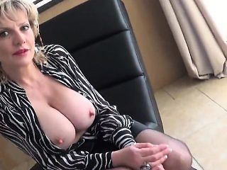 Cheating british milf gill ellis showcases her huge balloons