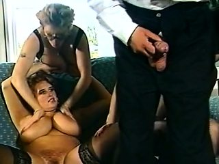 Big boobs milf cheating threesome sex