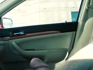 Jacking off and talking dirty in my car