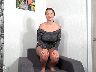 Busty Girl Stripping And Masturbating