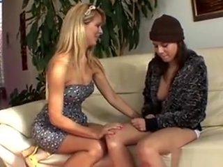 Blonde Mom Seducing Hot Teen Girl