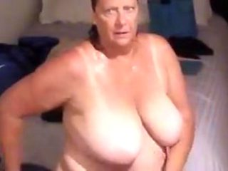Big titty bbw granny after her