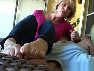 Foot Smelling Handjob