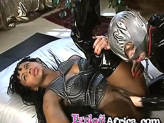 Hot black girl pounded with monster cock