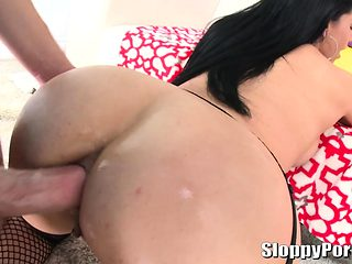 Amazing wet anal with a busty slut Bella Reese