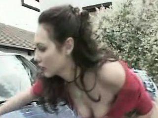 Big Boobs Stepmom Does Car Wash For Son in re