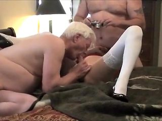 Hottest amateur shemale video with Threesome, Blowjob scenes