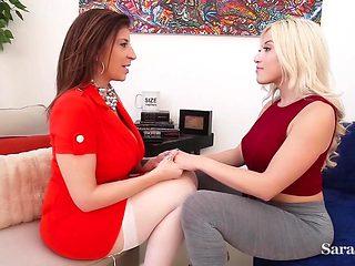 Hot Milf Sara Jay Helps Teen Cristi Ann Orgasm More!