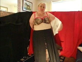 Aunty Jayne does a striptease