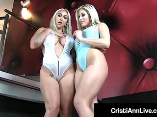 Latina Cristi Ann & Nympho Nina Kayy Tease Us With Big Butts