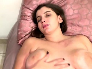 Step mom is fucked by son while sleeping