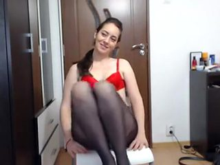 Lonely Brunette Wants You To See Her Hot Twat Through Panty