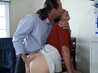 Boss Explores Secretaries Tight Butt