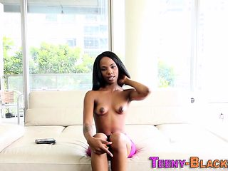 Teen gets black pussy cream filled