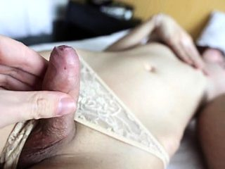 Bitchy thai ladyboy gets a-hole and mouth banged rough