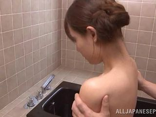 innocent asian chick fucked in the bathroom