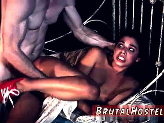 Teen tricked anal and brutal gangbang creampie first time