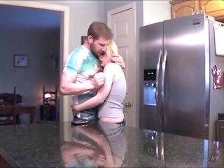 stepmom fucking in kitchen