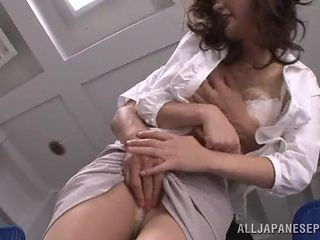 rina gets fucked on the office table