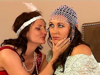 These two lesbian hotties with dark hair Indigo Sweet and Sinn Sage are really into rolleplay gam...