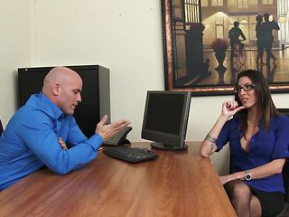 Office Hottie Dava Foxx Blows Her Boss to Keep Her Job