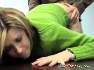 Blonde office fuck