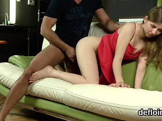 Innocent nympho stretches pink pussy and gets deflorated56DM