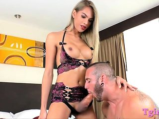 Luscious latina tranny ass slammed hard by pervert dude