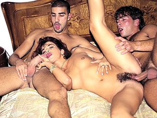 Pussy Haired Holly Black Gets a Double Vaginal...