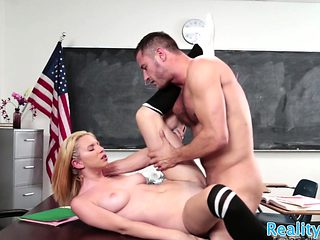 Real schoolgirl tastes her teacher warm cum