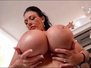 French maid Delzangel has huge fake breasts