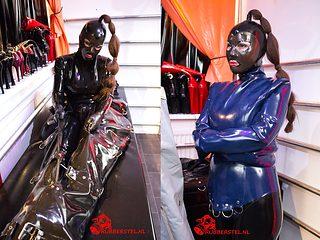 RubberGirl in heavy rubber bondage