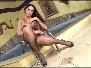 Busty LadyBoy Toyed Oiled Gangbanged by TROC